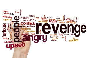 Revenge word cloud